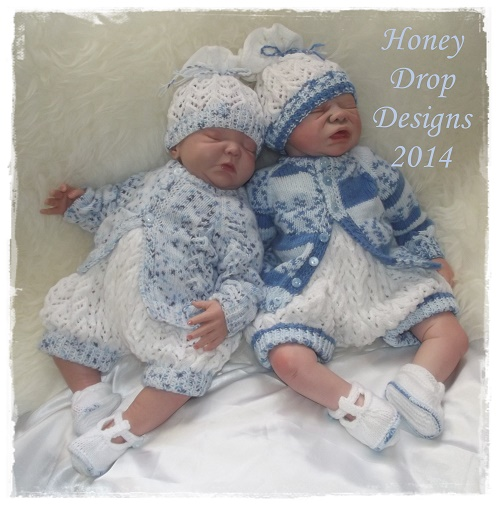 Huckleberry-baby,reborn,newborn,dress,matinee,jacket,booties,bonnet,4ply,dk,lacey,lacy,