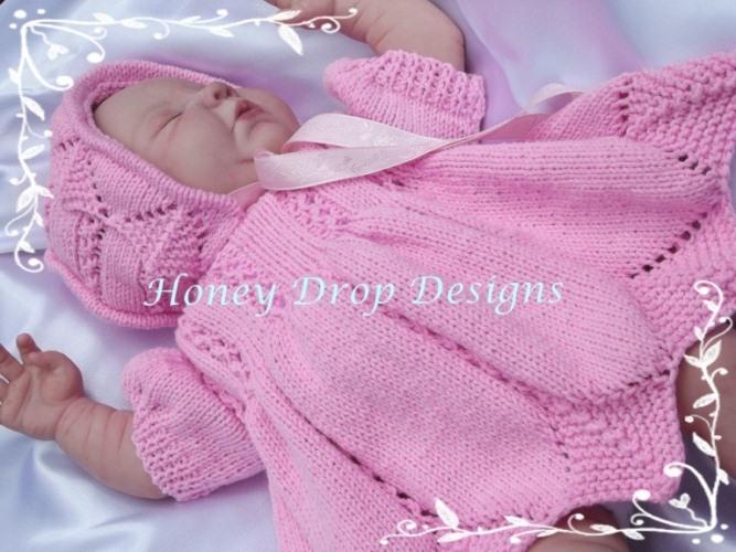 Springtime Dresses (4 Sizes)-Reborn, dress, baby, dress, double, knit, pattern, prem, newborn, bonnet, shoes