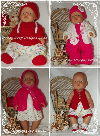 "Baby Born PATTERNS 1, 2, 3 & 4 ""COMBO"""