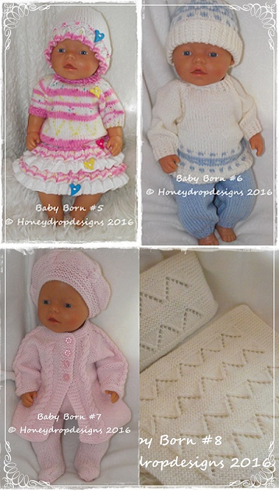 Baby Born PATTERNS 5, 6, 7 & 8 *COMBO*