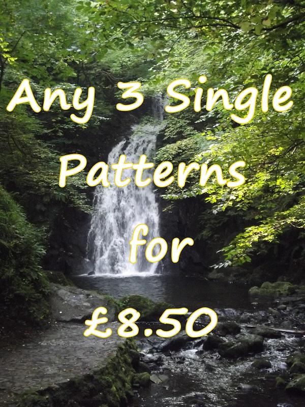 ANY 3 SINGLE PATTERNS - £8.50
